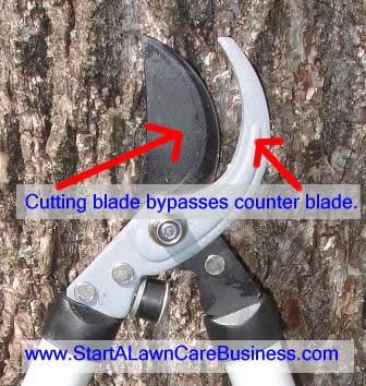 bypass lopper blades, cutting and counter