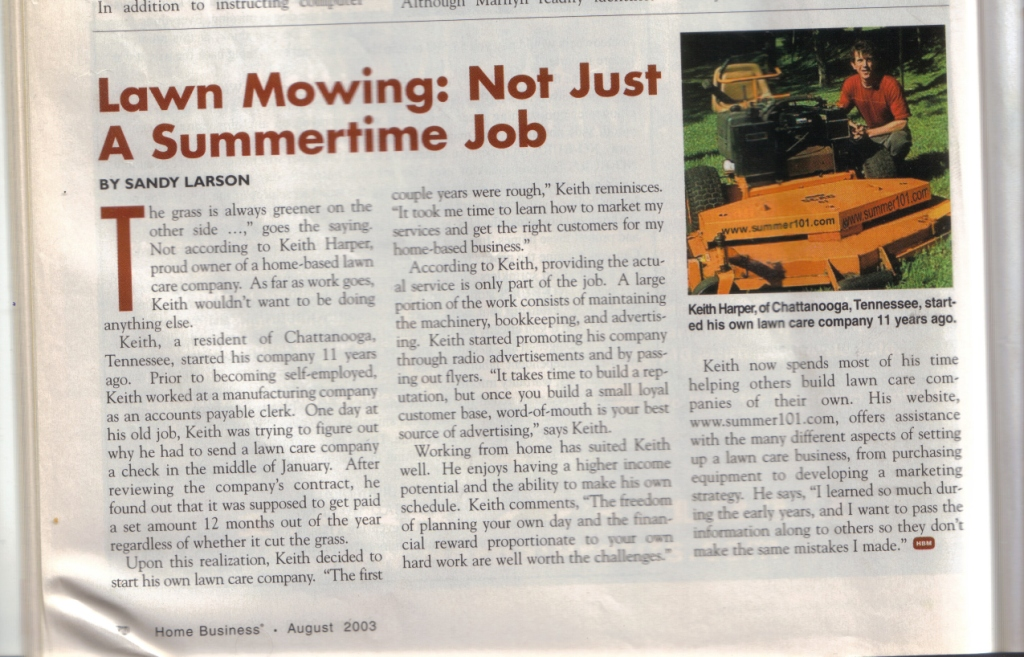 lawn care small business article