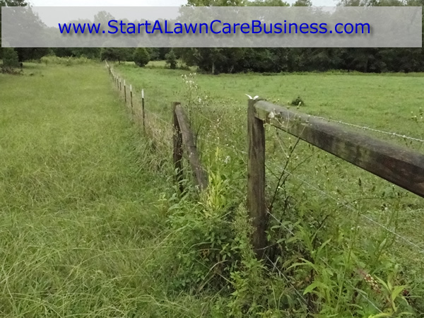 Fence Row Weedeating 171 Start A Lawn Care Business