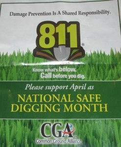 April is Safe Digging Month - Call 811