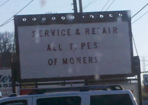 Lawn mower service and repair